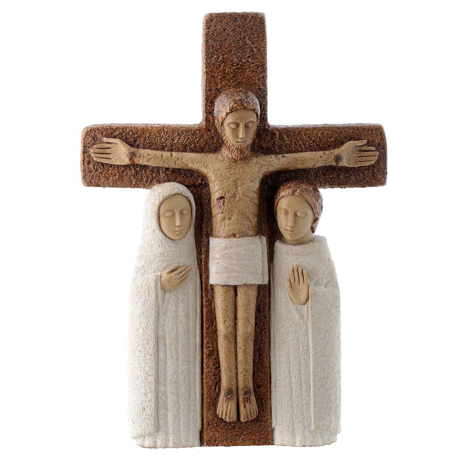 Crucifix en pierre, la compassion 4
