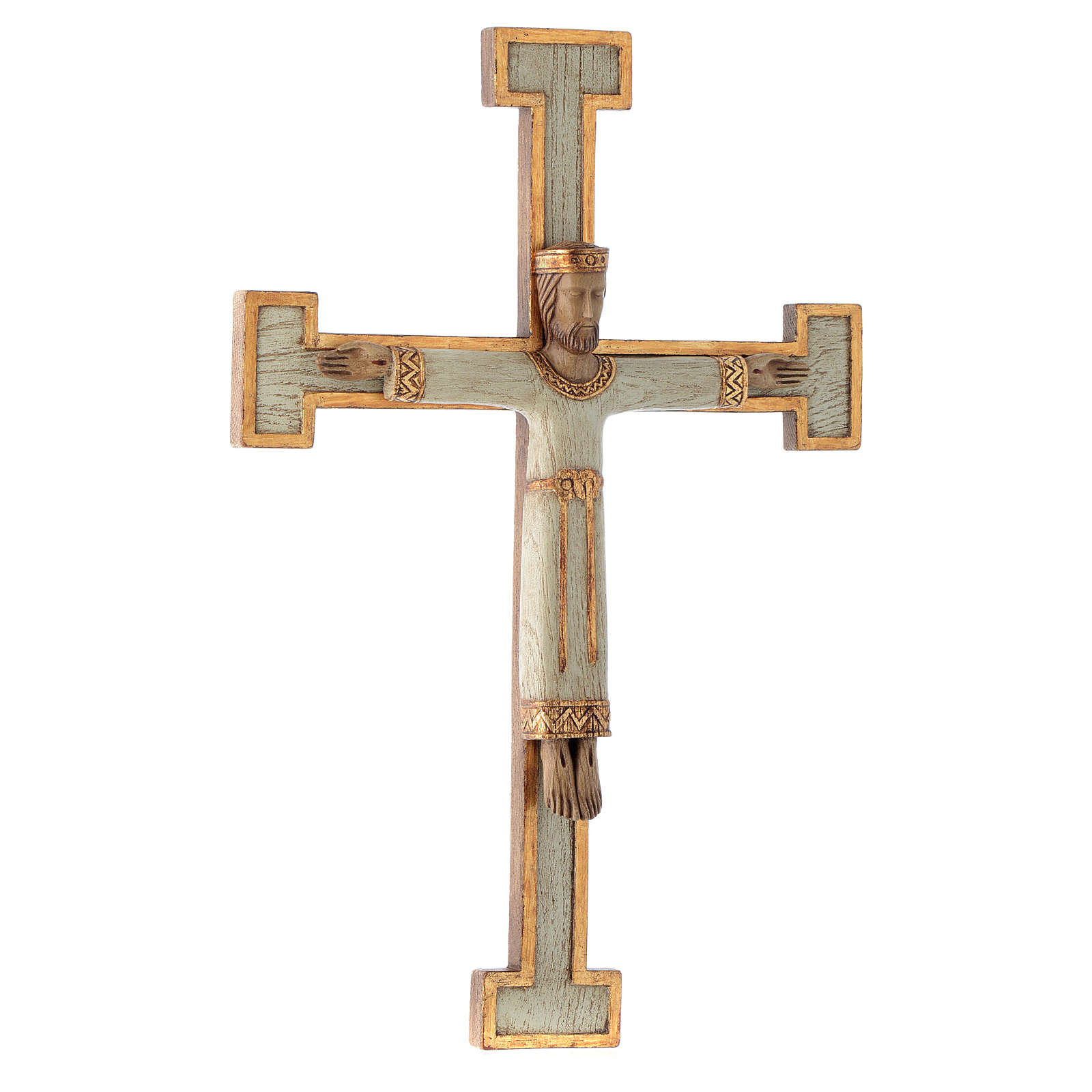 Crucifix en pierre, Chist, roi en blanc, croix blanche 4