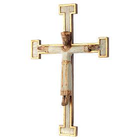 Crucifix en pierre, Chist, roi en blanc, croix blanche s2