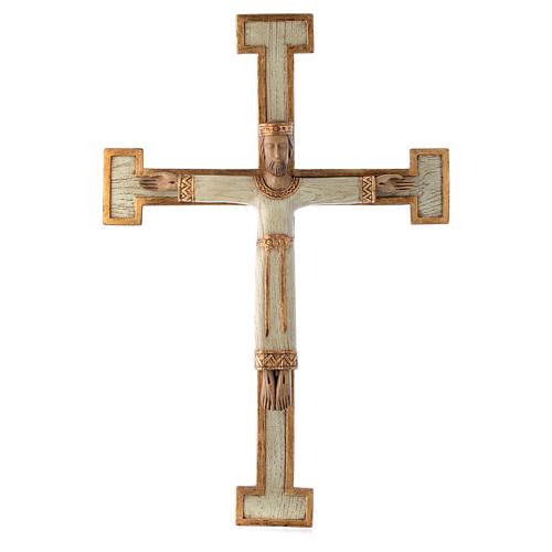 Crucifix en pierre, Chist, roi en blanc, croix blanche 1