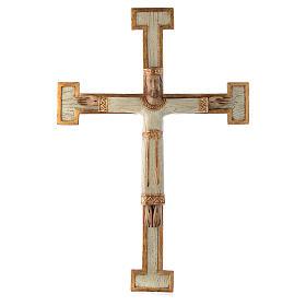 Krucyfiksy z kamienia: Chrystus Zbawiciel Król biały , krzyż biały