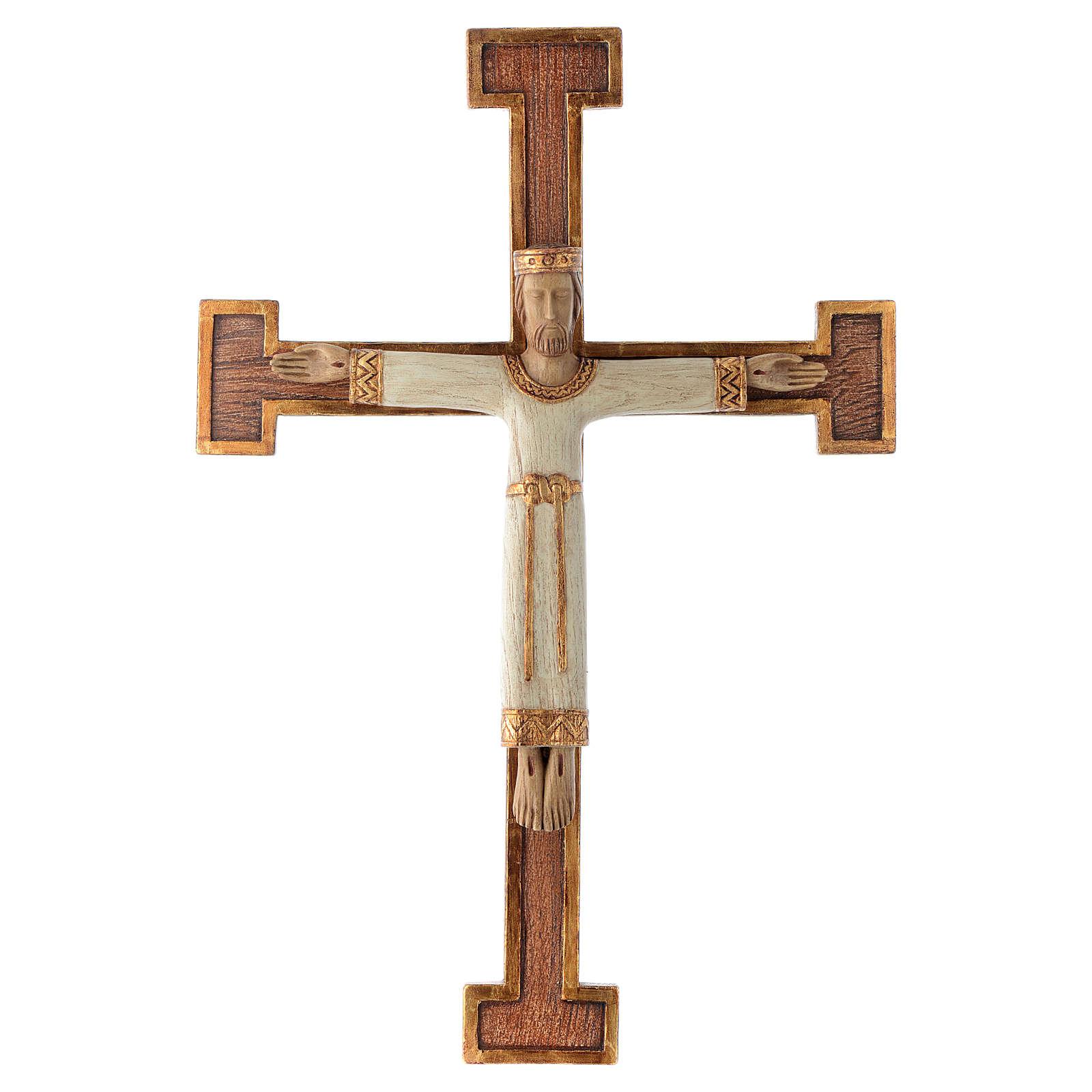 Crucifix en pierre, Chist, roi en blanc, croix marron 4