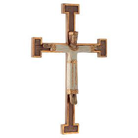 Crucifix en pierre, Chist, roi en blanc, croix marron s3