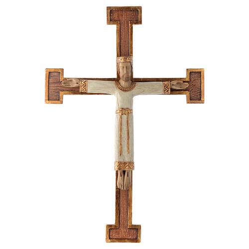 Crucifix en pierre, Chist, roi en blanc, croix marron 1