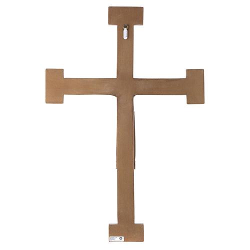 Crucifix en pierre, Chist, roi en blanc, croix marron 5