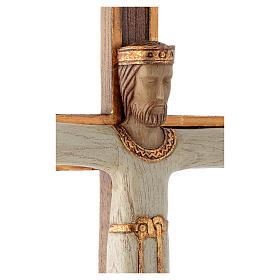 Cristo Sacerdote  Re bianco croce marrone s4