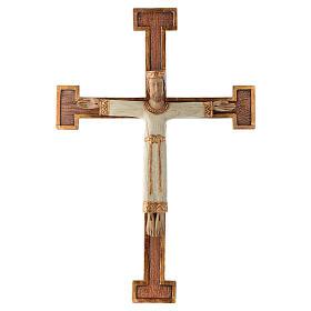 Krucyfiksy z kamienia: Chrystus Zbawiciel Król biały , krzyż brązowy