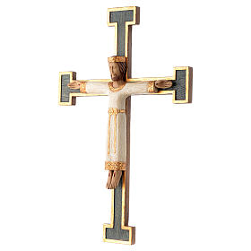 Kruzifix Priester Koenig weiss Jesus gruene Kreuz s2