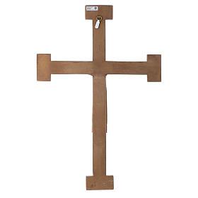 Kruzifix Priester Koenig weiss Jesus gruene Kreuz s5
