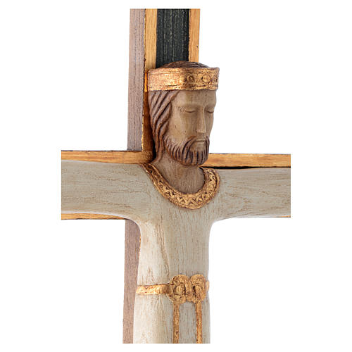 Kruzifix Priester Koenig weiss Jesus gruene Kreuz 4