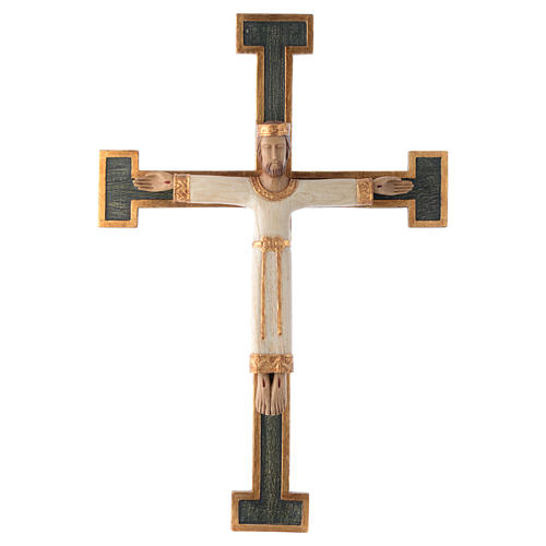 Christ Priest and Kind, white body on green cross, Bethéem 1