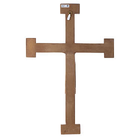 Crucifijo Sacerdote Rey blanco cruz verde s5