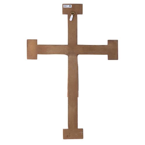 Crucifix Chist roi en blanc, croix verte en pierre 5