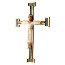 Krzyż Zbawiciel Król biały na krzyżu zielonym s2
