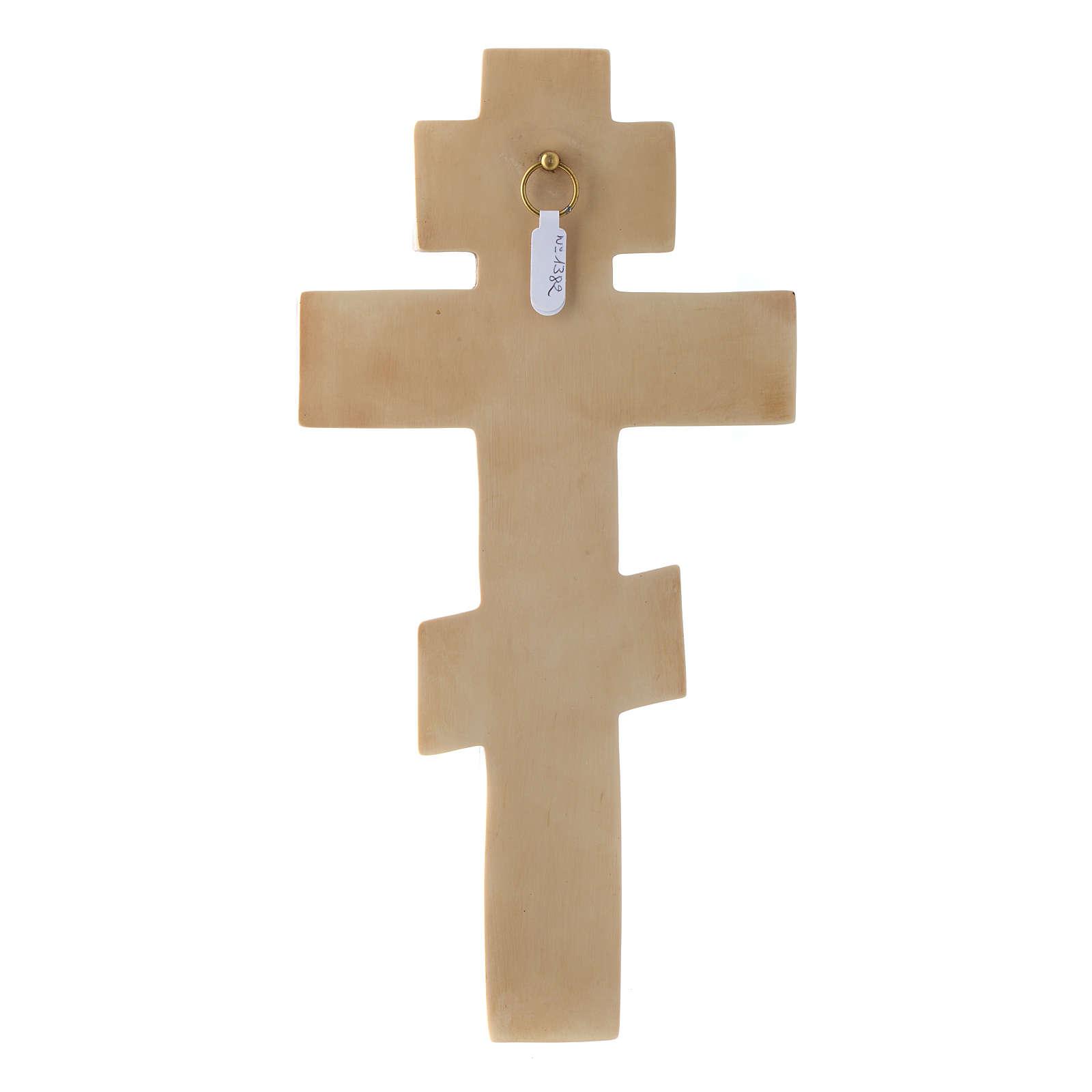 Crucifix byzantin couleur ivoire 4