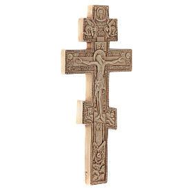 Krzyż Bizantino koloru kości słoniowej s3