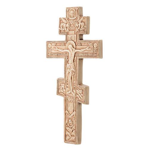 Krzyż Bizantino koloru kości słoniowej 2