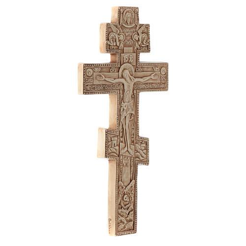 Krzyż Bizantino koloru kości słoniowej 3