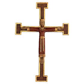 Cristo Sacerdote Rey vestido y cruz marrón 55x40 cm s1