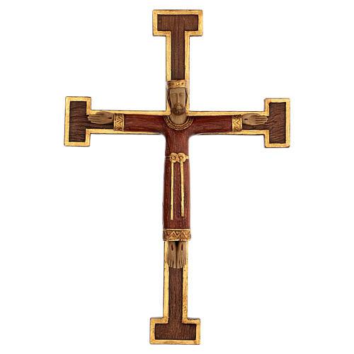 Cristo Sacerdote Rey vestido y cruz marrón 55x40 cm 1