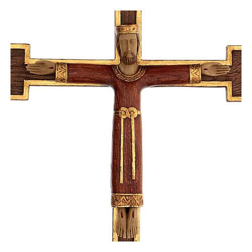 Cristo Sacerdote Rey vestido y cruz marrón 55x40 cm 2