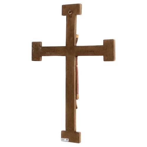 Cristo Sacerdote Rey vestido y cruz marrón 55x40 cm 3