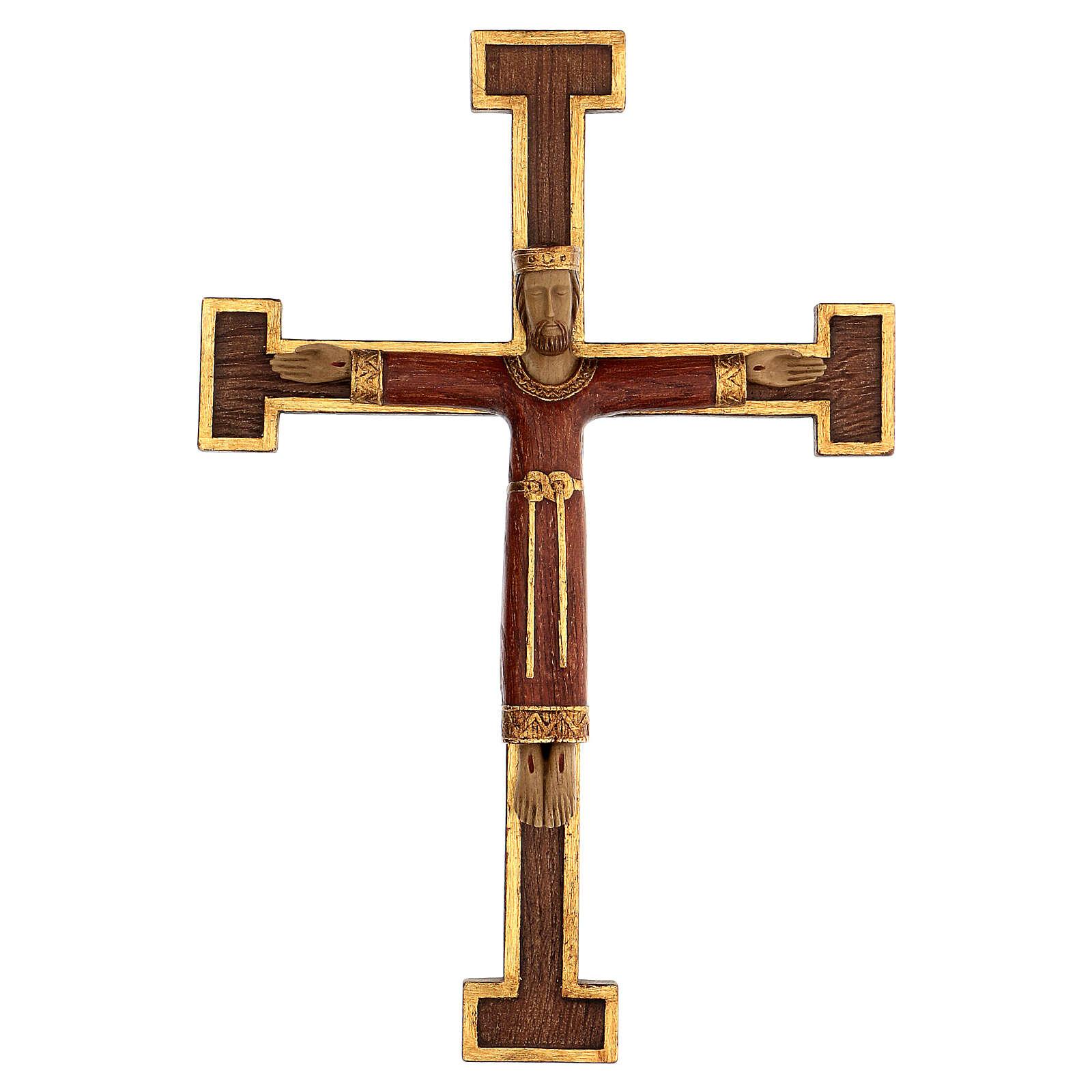 Christ Prêtre Roi robe et croix marron 55x40 cm 4