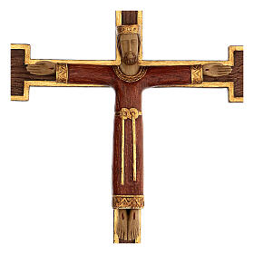 Cristo Sacerdote Re veste e croce marrone 55x40 cm s2