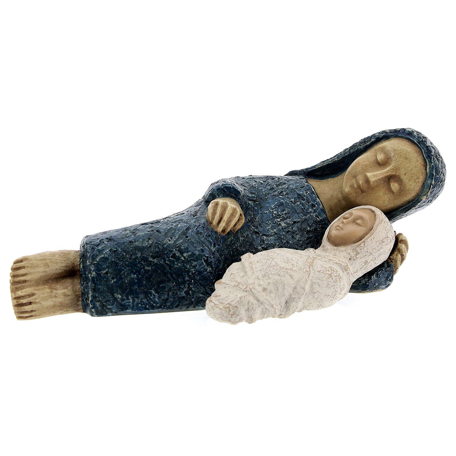 Natividade pequena azul Belém 3
