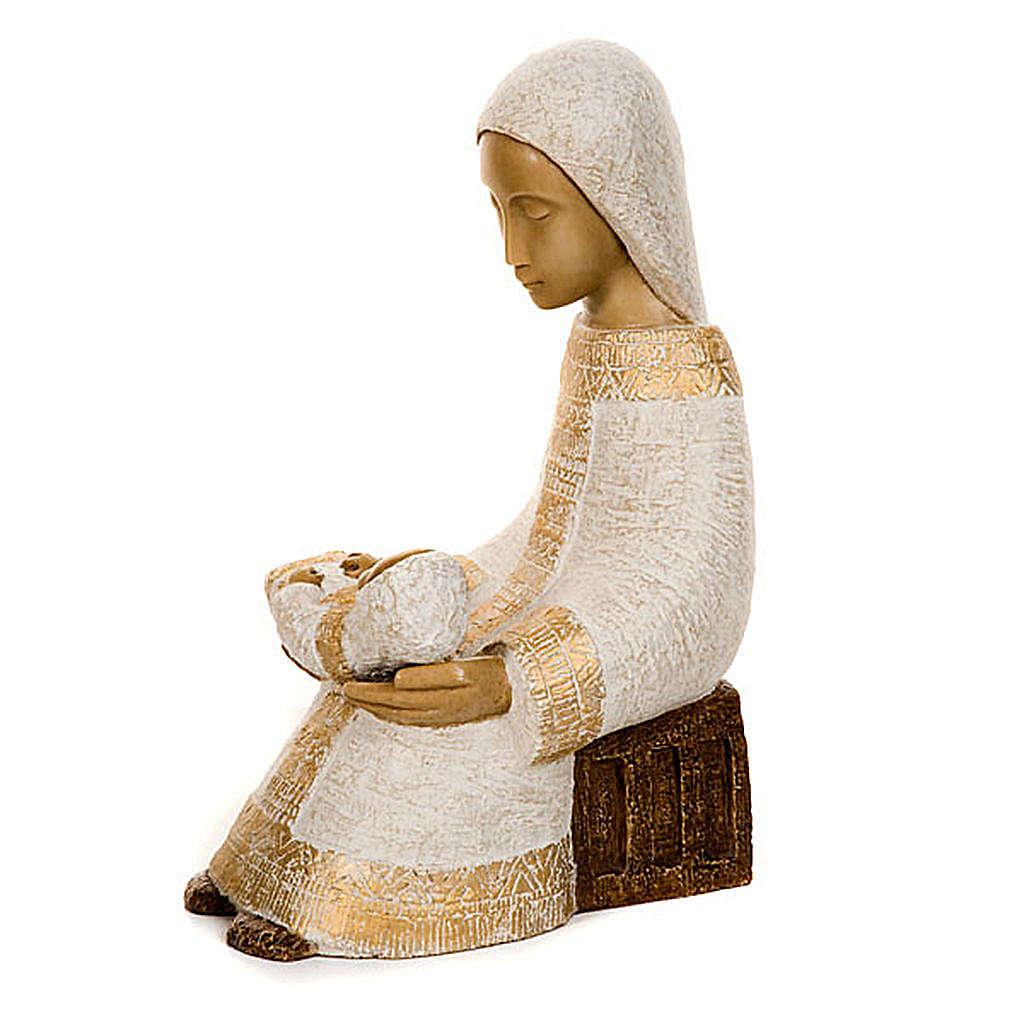 Virgen campesina con niño 4