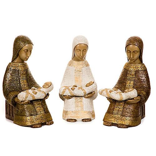 Virgen campesina con niño 1