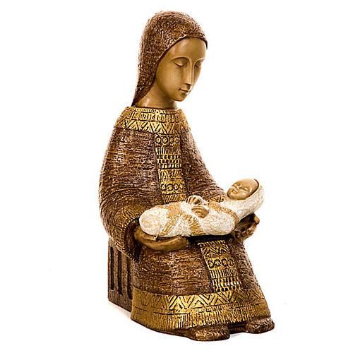 Virgen campesina con niño 5