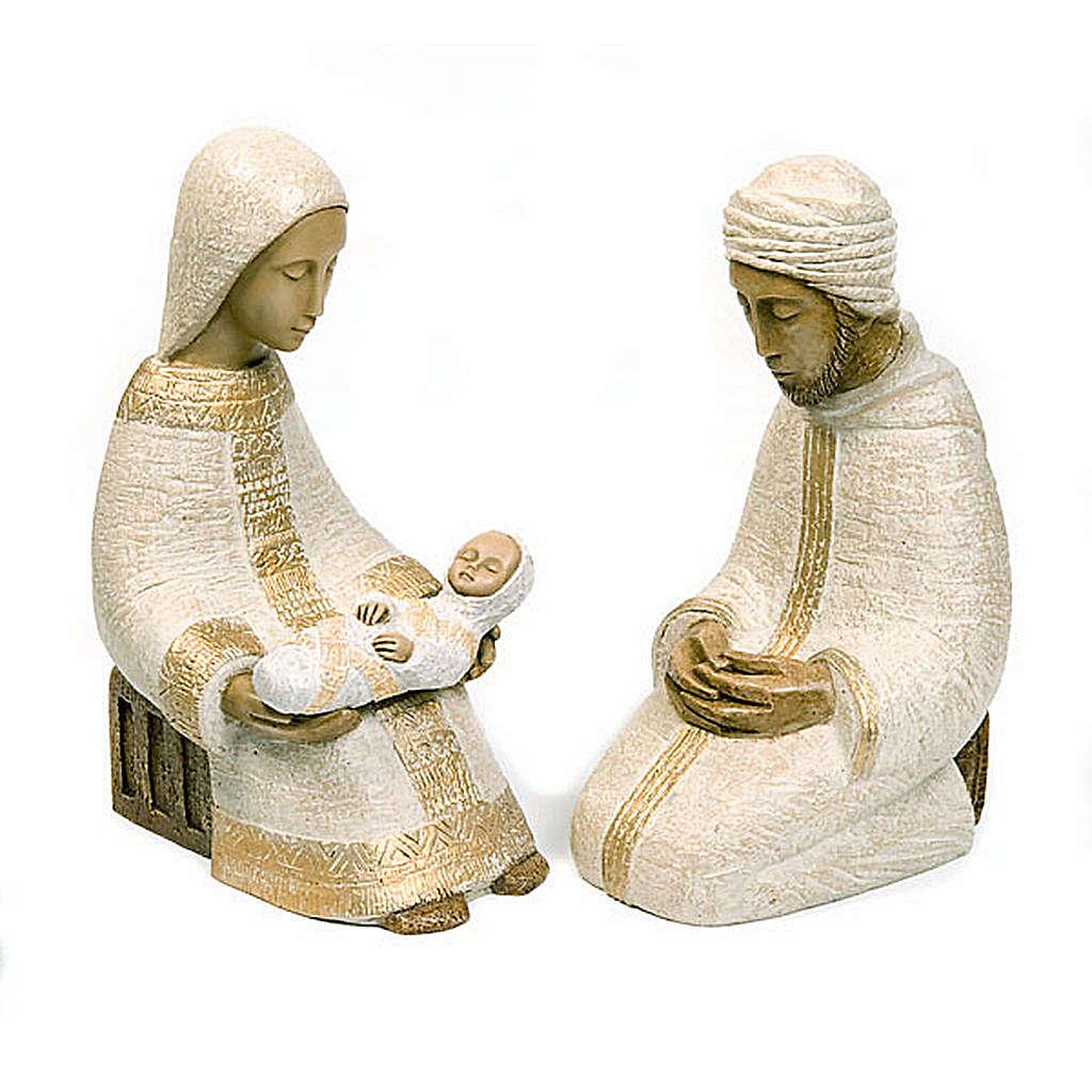 Święta Rodzina Szopka Chłopska biały zestaw Bethleem 4