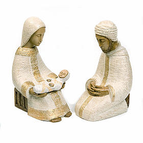 Large nativity set white s1