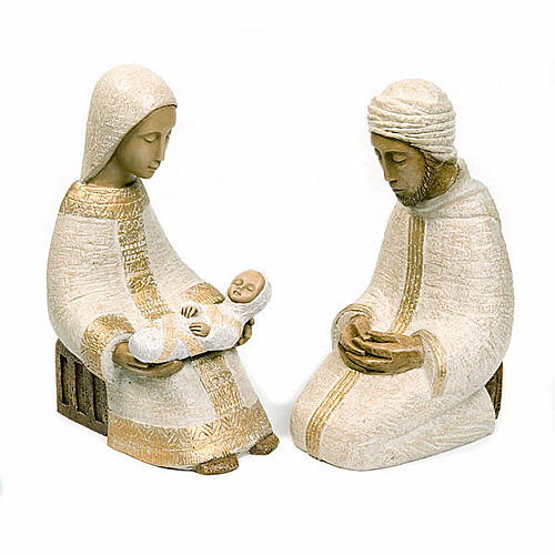 Large nativity set white 1