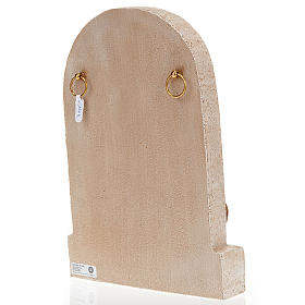 Bassorilievo Sacra Famiglia pietra chiara dipinto s3