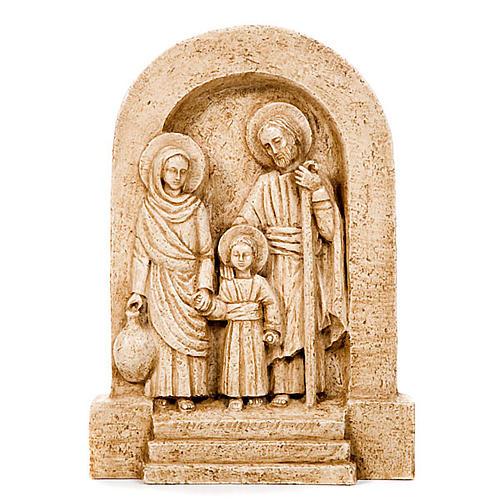 Flachrelief der Heiligen Familie aus Stein 1