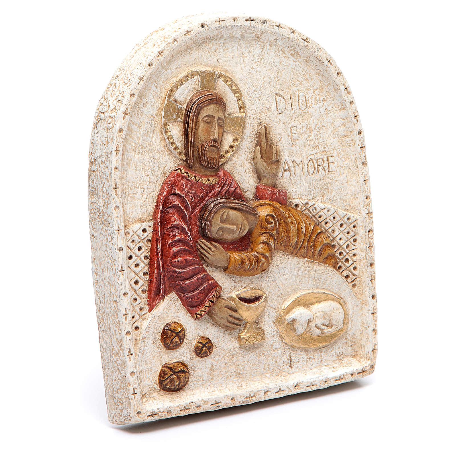 Baixo-relevo Jesus e João 4