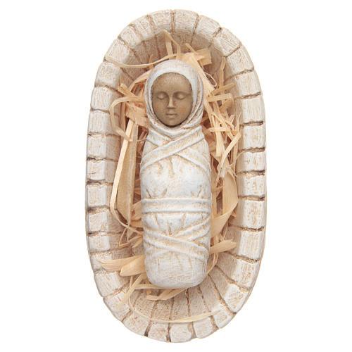 Enfant Jésus avec sa crèche - petite crèche 1