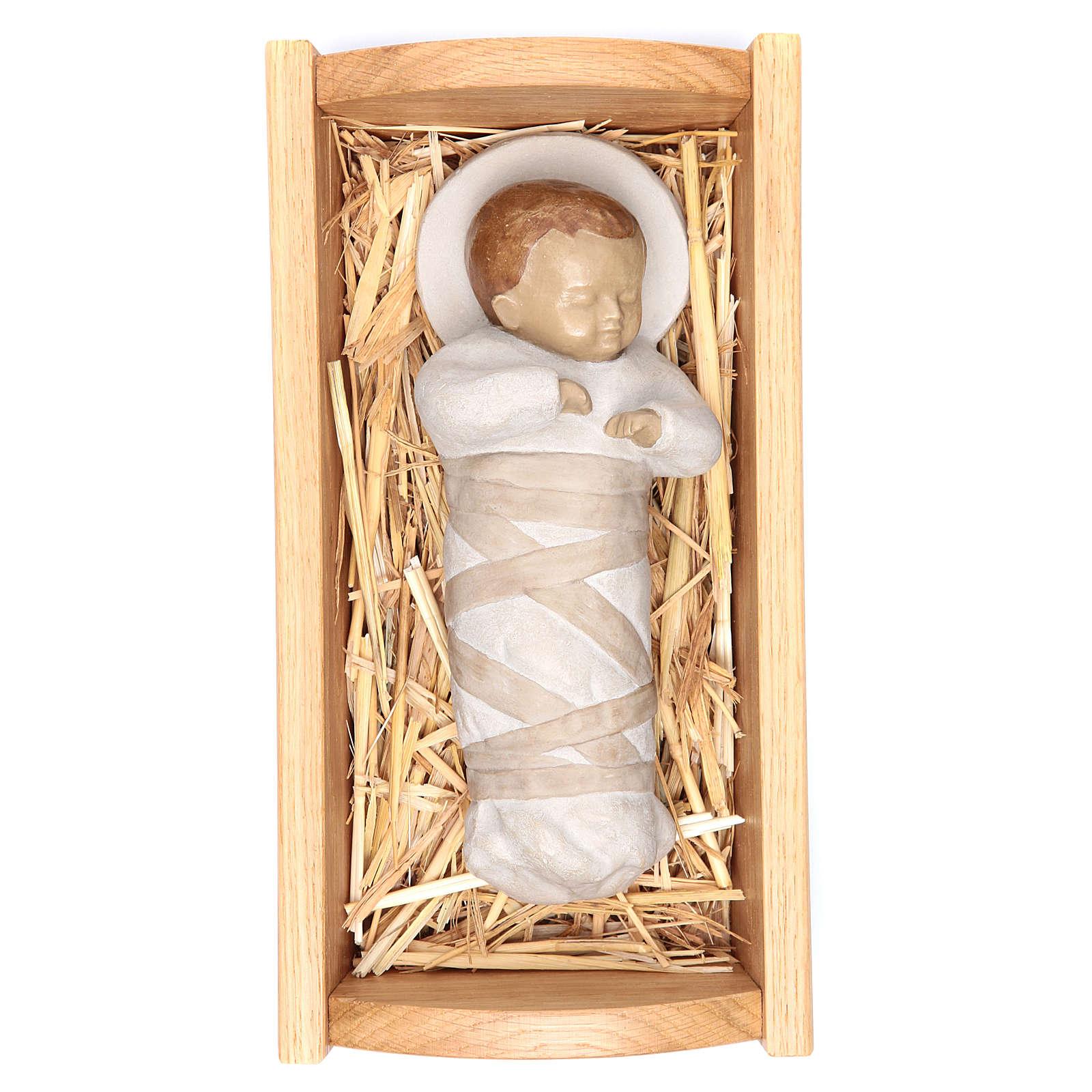 Gesù Bambino culla  legno 4