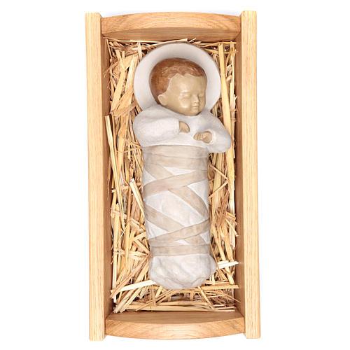 Gesù Bambino culla  legno 1