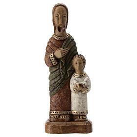 Figury z kamienia: Święty Józef z Jezusem