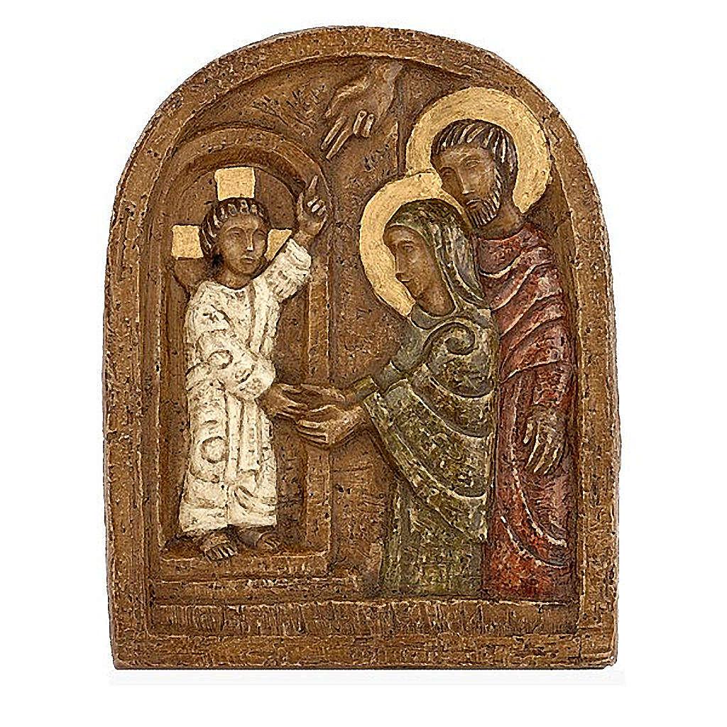 Bas-relief, retrouvailles de Jésus au Temple 4