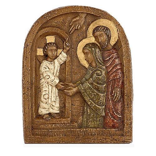 Bas-relief, retrouvailles de Jésus au Temple 1