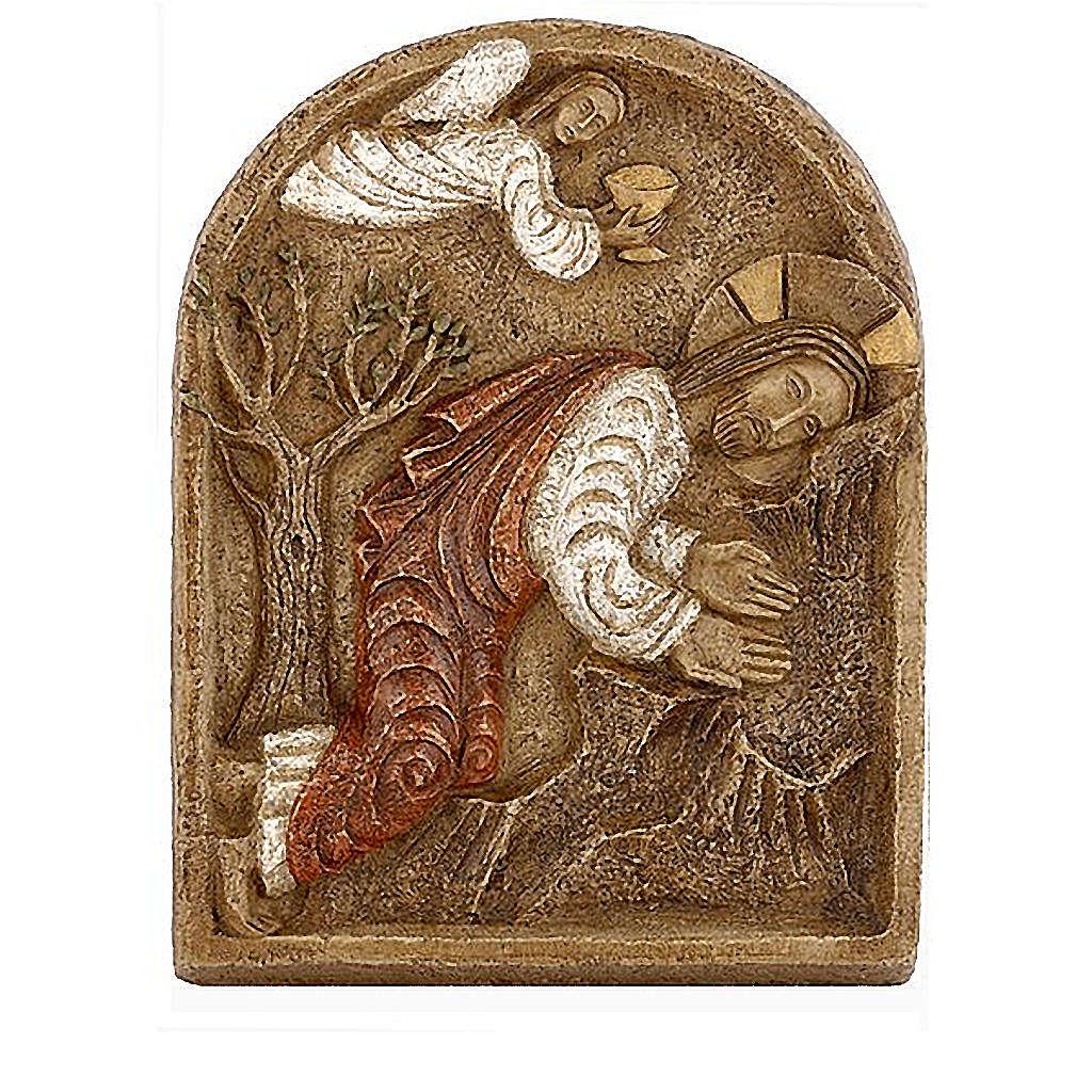 Bassrelief of Jesus in the garden of Getsemani 4