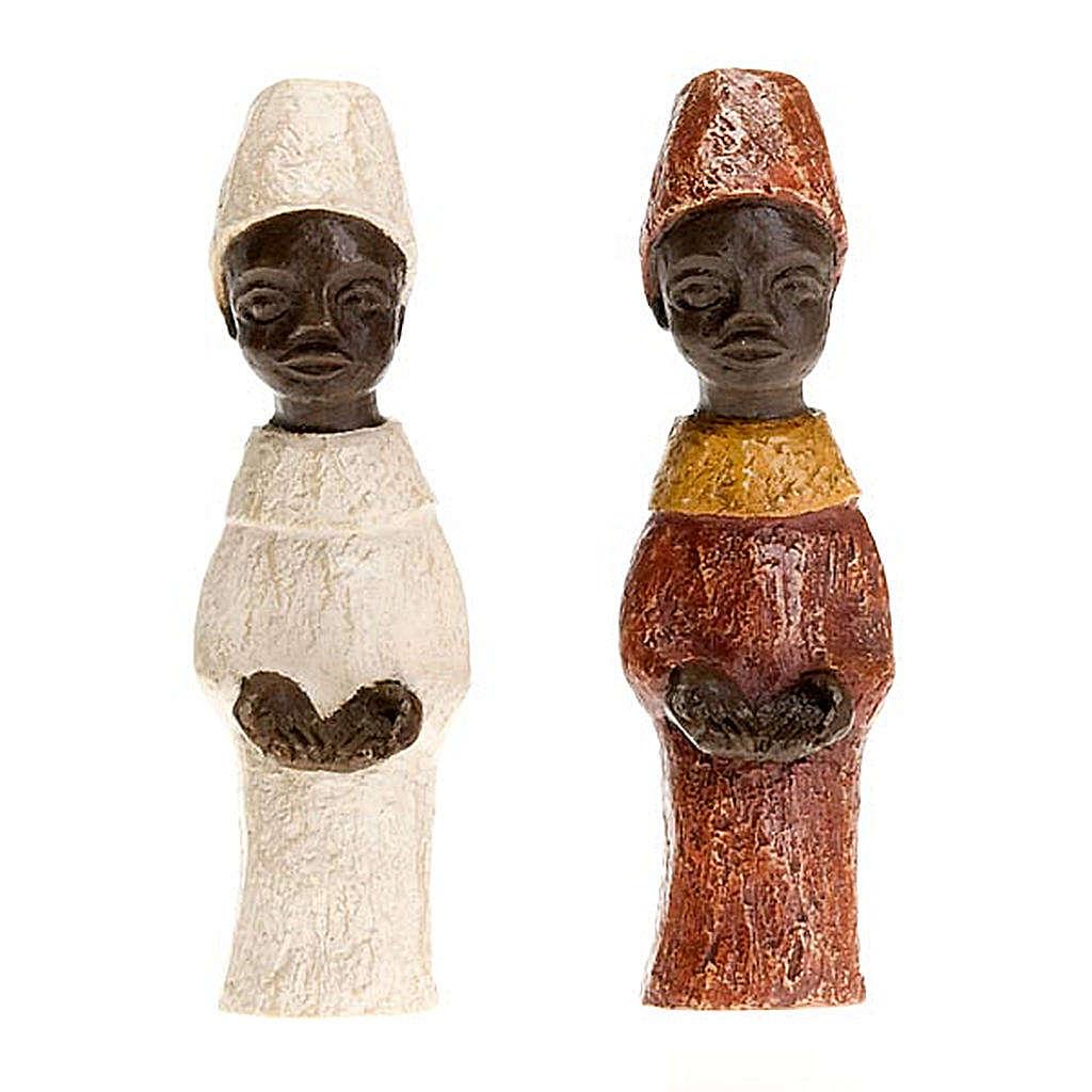 Rey africano pesebre Belén 4