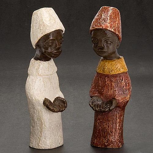 Re africano Presepe piccolo Bethléem 3
