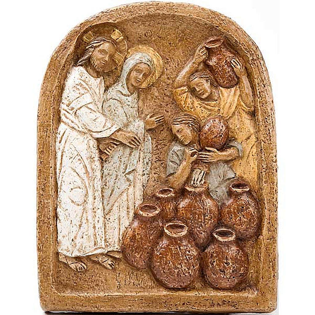 Bas-relief des Noces de Cana monastère Bethléem 4