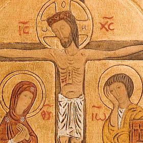 Bajorrelieve Crucifixión dorado s2