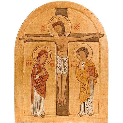 Bajorrelieve Crucifixión dorado 1